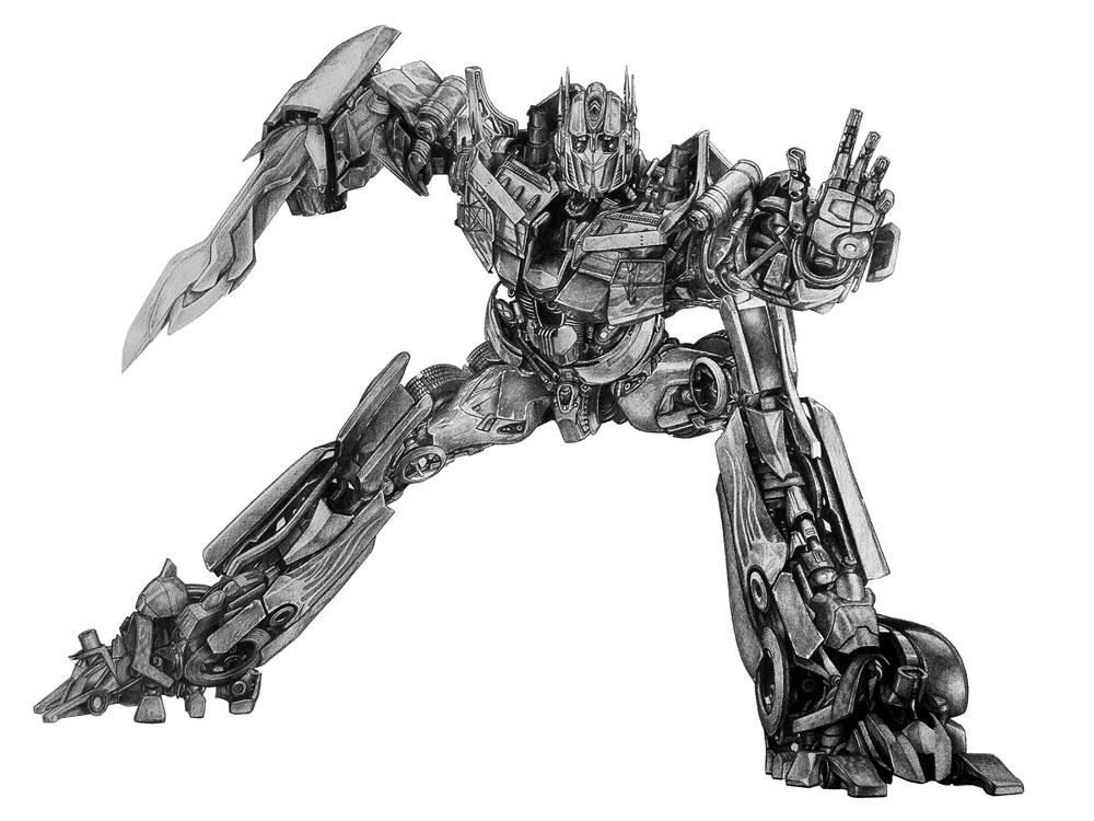 Optimus Prime A3 Pencil Drawing Matt Harvey S Portfolio