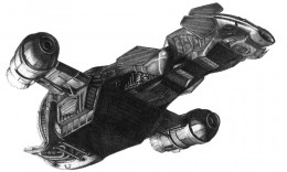 Drawing of the space ship Serenity